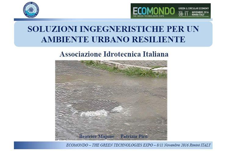 L'Associazione Idrotecnica Italiana ad Ecomondo 2016 nell'ambito della Sessione Water Global Expo